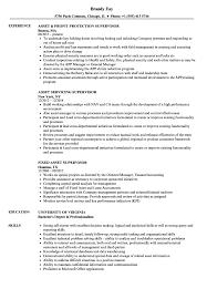 Asset Supervisor Resume Samples Velvet Jobs