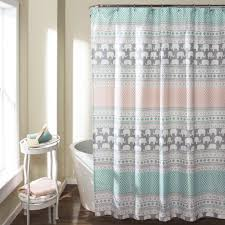 Elephant Stripe Shower Curtain Lush Decor