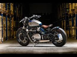 custom triumph bonneville bobber by bike brothers youtube