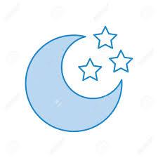 かわいい月星ベクトル イラスト デザイン