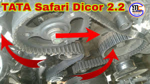 Tata safari dicor 2.2 || Timing belt change || timing lock - YouTube