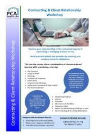 Contracts Client Relationship Workshop Flier 2017