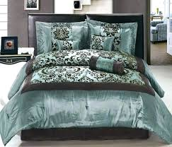 brown and blue bedding sets uk teal colored comforter quilt set cream chocolate king satin flocking
