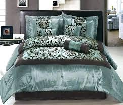 brown and blue bedding sets uk teal colored comforter quilt set cream chocolate king satin flocking
