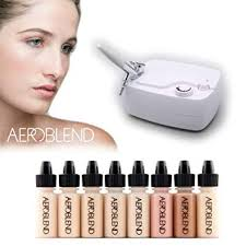 aeroblend airbrush makeup personal starter kit professional cosmetic airbrush makeup system light foundation