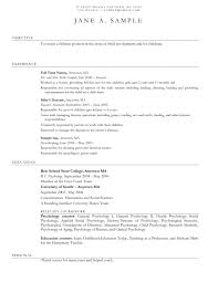 Best Nanny Resume Example Livecareer And Babysitting Template ...