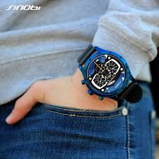 Online Shop SINOBI <b>Mens Watches Top</b> Luxury <b>Brand</b> Waterproof ...