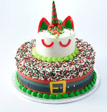 Sams Club Cake The 3 Tier Christmas Unicorn Cake At Sams Club Is A Must Have For