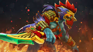 dota 2 huskar warrior set beautiful rooster costumes art wallpaper