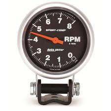 2 5 8 pedestal tachometer 0 8 000 rpm sport comp