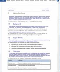This section of the statement of work should provide a brief statement of what you expect to accomplish as a result of this scope of work. Statement Of Work Template Templates Forms Checklists For Ms Office And Apple Iwork
