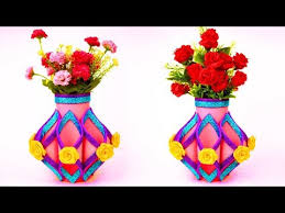 Flower Vase With Paper How To Make Flower Vase Out Of Paper_ Diy Simple Paper Craft _