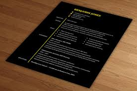 Stylish Black Resume Template