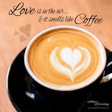 coffee cups with coffee love. Interesting Coffee Quote Love Is In The Air And It Smells Like Coffee Coffee Qotd Quote To Coffee Cups With