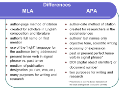 Mla And Apa Whats The Difference Faculty Academy Presenters