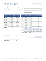 Excel Overtime Formula Free Time Card Calculator Timesheet Calculator For Excel