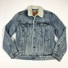levi s mens sherpa lined denim trucker jean jacket size small