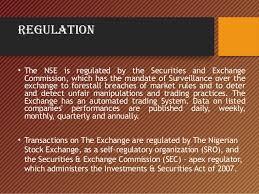Nigerian Stock Market Nigerian Stock Exchange Channels