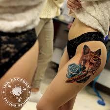 лиса ловец снов и голубая роза сделано в Inkfactory