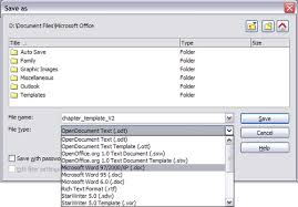 Office Word Format Saving A Document Apache Openoffice Wiki