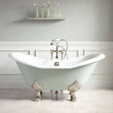 61 arabella cast iron tub sage green