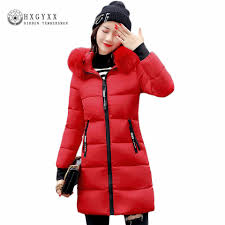 Warm Fur Fashion Hooded Quilted Coat Winter Jacket Woman 2017 ... & Warm Fur Fashion Hooded Quilted Coat Winter Jacket Woman 2017 Solid Color  Zipper Down Cotton Parka Plus Size Slim Outwear O2 -in Parkas from Women's  ... Adamdwight.com
