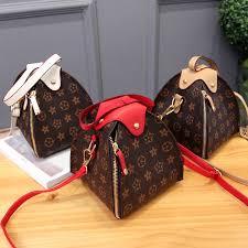New floral <b>women's bag triangle shoulder</b> bag Casual fashion ...