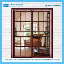 2016 low glass painting double sliding door hardware