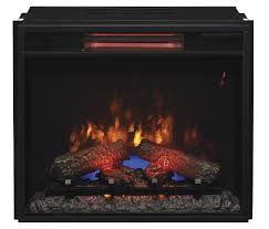 23 74 inch classic flame fixed glass spectrafire infrared quartz electric fireplace insert