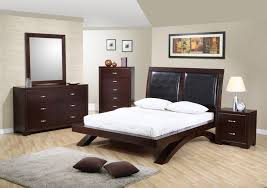 Queen Bedroom Sets with Mattress : Awesome Modern Bedroom Design With Dark  Brown Queen Size Wooden