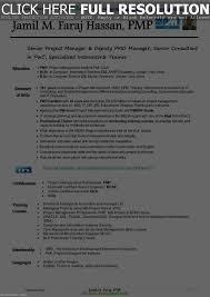 Pmp Certified Resume Sample Resume Work Template