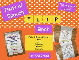 Parts Of Speech Flip Chart Parts Of Speech Flip Book Nouns Verbs Adjectives Adverbs