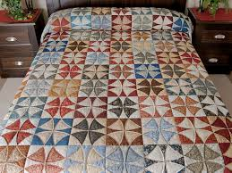 Winding Ways Quilt -- splendid cleverly made Amish Quilts from ... & Vintage Blue, Brick, Creams Golds Winding Ways Quilt Queen Size Photo 1 ... Adamdwight.com