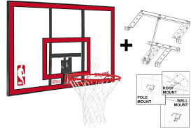spalding nba polycarbonate backboard and ring with mounting bracket uk basketball specialist swish basketball