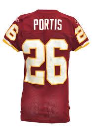 11 2008 2 Lot Game Portis Washington - Uniform Taylor Clinton Home Of Detail Fame