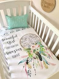 Dream Catcher Crib Bedding Magnificent Baby Girl Cot Quilt Blanket Dreamcatcher Amazing Things Boho