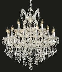 picture of elegant 2800d30c rc maria theresa chandeliers chrome 30in