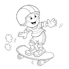 Design Your Own Skateboard Coloring Page Skateboard Coloring Pages
