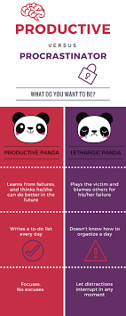 tips for productivity productive panda vs lethargic panda in other words you will a list of good behaviors to imitate that can help you be more efficient and successful and a black list of wrong behaviors