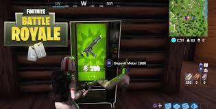 Green Vending Machines Unique Fortnite Battle Royale Vending Machines Locations Guide