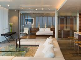 Glass wall between bedroom and living room? What about privacy? Is it one  way mirror?