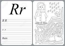 ベクトル イラスト子供幼児子供 R 雨のため簡単なゲーム レベルで手書きを学ぶ教育的なゲームではアルフ