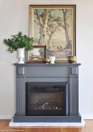 fireplace with diy marble hearth the painted hive