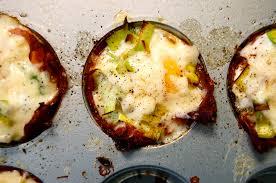 Baked Eggs in Crispy Ham Cups | Lady Gouda