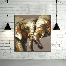 hand painted canvas art abstract elephant oil paintings modern decoration wall art living room decor no