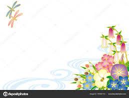 花は夏から初秋に咲きます和風 ストックベクター Alphabetmn