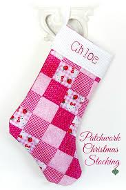 Christmas Stocking Pattern With Cuff Extraordinary Patchwork Christmas Stocking Grateful Prayer Thankful Heart