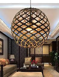 Living Room Pendant Light Interesting 48W Retro LED Bamboo Pendant Ceiling Lights Pendant Lights Living