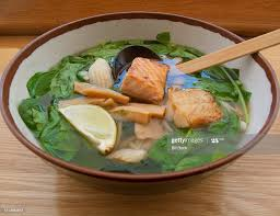 Udon Noodle Seafood Soup With Wild ...