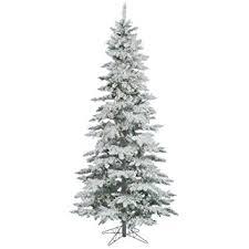 Flocked Slim TreeSlim Flocked Christmas Trees Artificial
